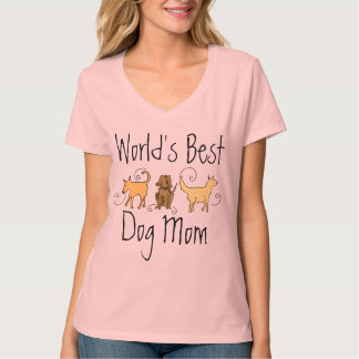 La mejor mamá del perro del mundo playera