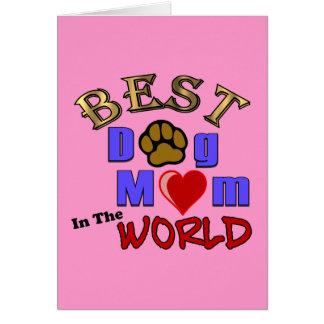 La mejor mamá del perro en la tarjeta de felicitac
