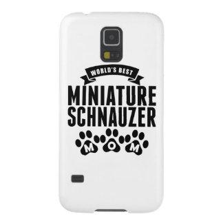 La mejor mamá del Schnauzer miniatura del mundo Funda Para Galaxy S5