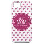 La mejor mamá en los corazones y el círculo del iPhone 5 carcasa