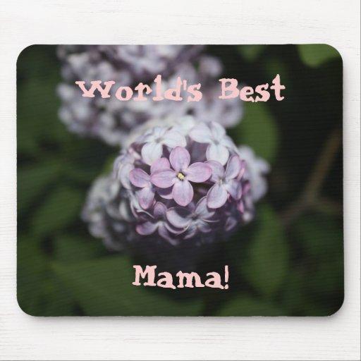 La mejor mamá Lilac Flowers Mousepad del mundo Tapetes De Ratón