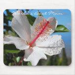 La mejor mamá Mousepad del mundo blanco del hibisc Tapete De Raton