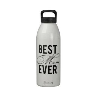 La mejor mamá nunca botellas de beber