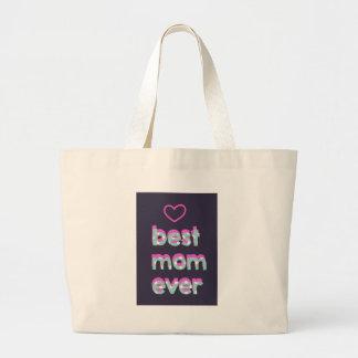 La mejor mamá nunca bolsa de tela grande