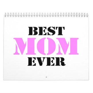 La mejor mamá nunca calendario
