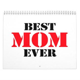 La mejor mamá nunca calendarios de pared