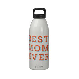la mejor mamá nunca diseño del texto para el día botella de beber