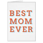 la mejor mamá nunca, diseño del texto para el día  tarjetas