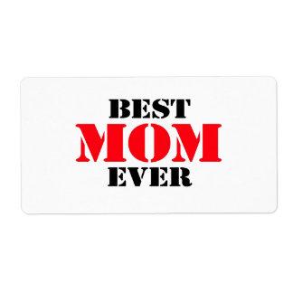 La mejor mamá nunca etiquetas de envío