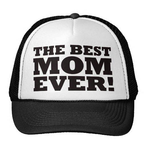 La mejor mamá nunca gorros bordados