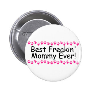 La mejor mamá nunca Handprints de Freakin Pin