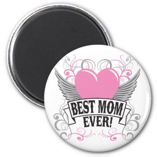 La mejor mamá nunca imán redondo 5 cm