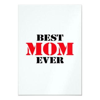 """La mejor mamá nunca invitación 3.5"""" x 5"""""""