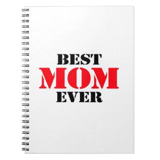 La mejor mamá nunca libro de apuntes con espiral