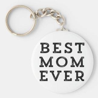 La mejor mamá nunca llavero redondo tipo pin