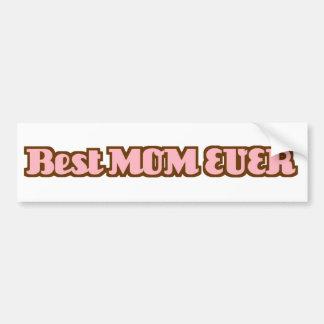 La mejor mamá nunca pegatina para auto