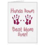 La mejor mamá nunca tarjeta