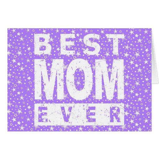La mejor mamá nunca tarjeton