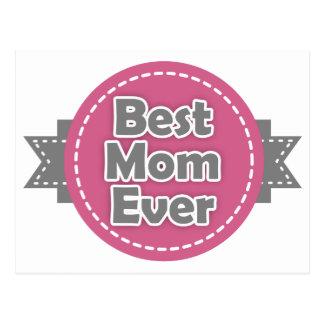 La mejor mamá nunca tarjeta postal