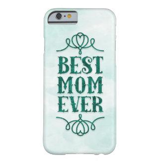 La mejor mamá nunca (verde menta) funda de iPhone 6 barely there