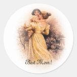 ¡La mejor mamá! Pegatinas del día de madre Pegatinas Redondas