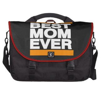 La mejor mamá siempre anaranjada bolsa para ordenador