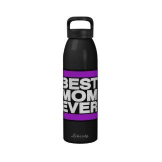 La mejor mamá siempre púrpura botellas de beber