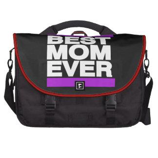 La mejor mamá siempre púrpura bolsa de ordenador