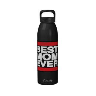La mejor mamá siempre roja botellas de beber