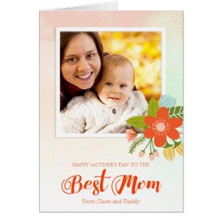 La mejor mamá, tarjeta de felicitación de encargo
