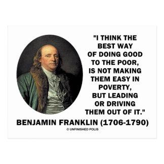 La mejor manera de Benjamin Franklin de hacer a bu Postal