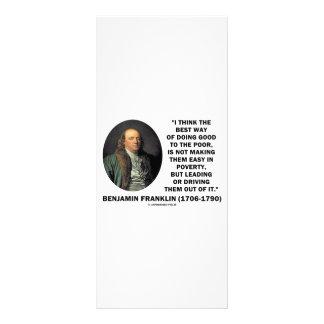 La mejor manera de Benjamin Franklin de hacer a bu Tarjetas Publicitarias Personalizadas