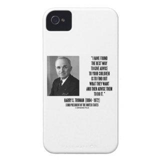 La mejor manera de Harry Truman da consejo a sus iPhone 4 Case-Mate Carcasa