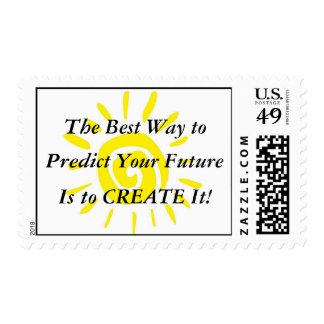 ¡La mejor manera de predecir su futuro es lo crea! Estampillas