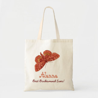 La mejor mariposa siempre anaranjada del vintage bolsa tela barata
