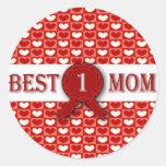 La mejor medalla de la mamá pegatinas redondas
