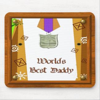 La mejor medalla Mousepad del papá Alfombrilla De Ratones