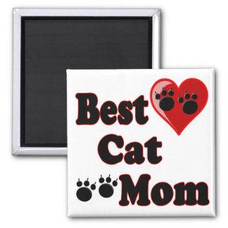 La mejor mercancía de la mamá del gato para la imán cuadrado