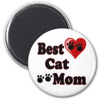 La mejor mercancía de la mamá del gato para la mad imán redondo 5 cm