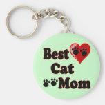 La mejor mercancía de la mamá del gato para la mad llavero personalizado