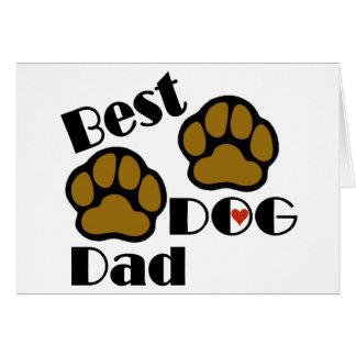 La mejor mercancía del papá del perro tarjeta