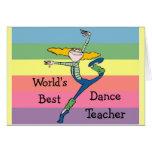 La mejor mercancía del profesor de la danza del mu tarjeta
