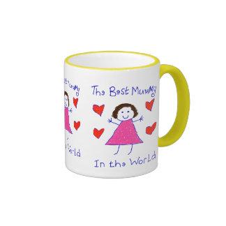 La mejor momia en el mundo tazas de café