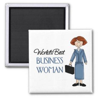 La mejor mujer de los negocios del mundo imán cuadrado