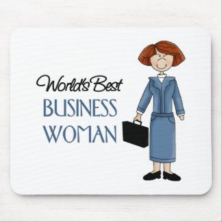 La mejor mujer de negocios de los mundos alfombrilla de raton