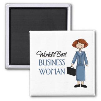 La mejor mujer de negocios de los mundos imán cuadrado