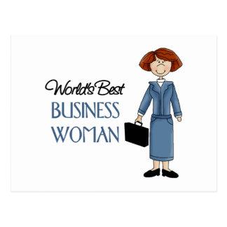 La mejor mujer de negocios de los mundos postal