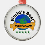 La mejor mujer policía del mundo ornamentos para reyes magos