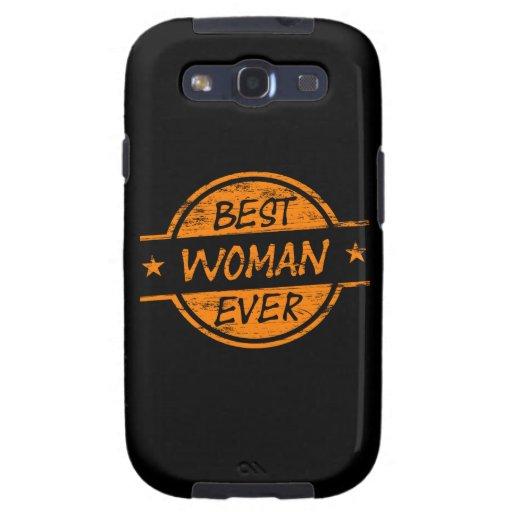 La mejor mujer siempre anaranjada samsung galaxy s3 protectores