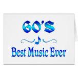 la mejor música 60s tarjeta